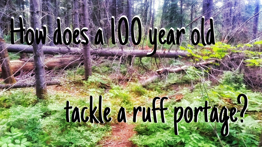 How does a 100 year old tackle a ruff portage?