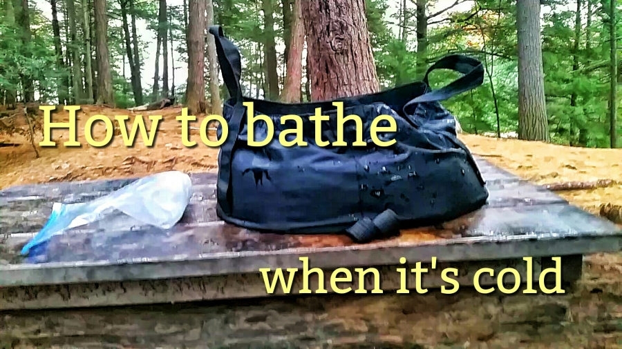 How to bathe in the backcountry when it's cold out